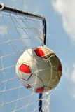 Soccerball in net Royalty Free Stock Image