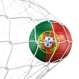 Soccerball in net Stock Photo