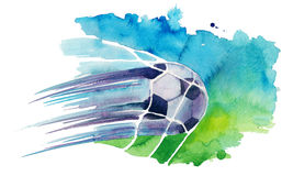 Soccerball in net Stock Image