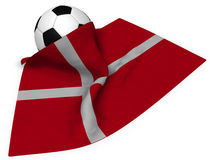 Soccerball och flagga av Danmark royaltyfri illustrationer