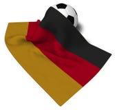 Soccerball och flagga av Tyskland royaltyfri illustrationer