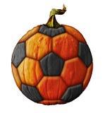 Soccerball Pumpkin. Photo-illustration of a pumpkin soccerball Stock Photos