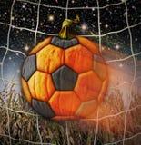 Soccerball Pumpkin. Photo-illustration of a pumpkin soccerball Stock Image