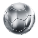 Soccerball in silver Stock Photos