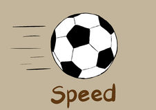 Soccerball and speed Royalty Free Stock Photography