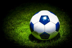 Soccerball in the spotlight Stock Photography