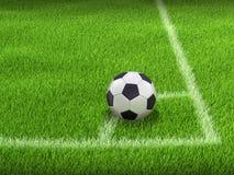 Soccerball su erba immagine stock
