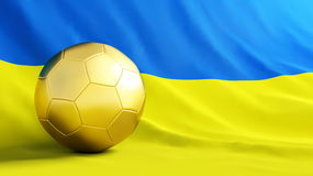 Soccerball ukraine Royalty Free Stock Images