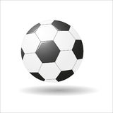 Soccerball Vector tekening Stock Foto's