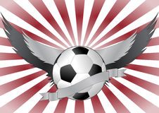 Soccerball wings Royalty Free Stock Image