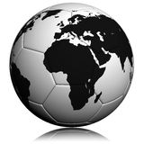 Soccerball with worldmap Royalty Free Stock Photo
