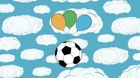 Soccerballen flyger upp stock video