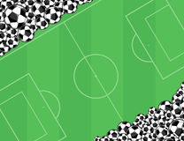 Soccerballs background Royalty Free Stock Photos