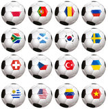 Soccerballs with country flag Royalty Free Stock Photo