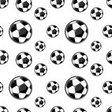 Soccerballs pattern Royalty Free Stock Photos