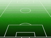 Soccerfield Stockbilder