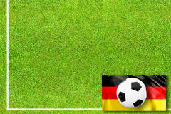Soccerfield with german flag Stock Photography