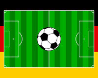 Soccerfield Tyskland stock illustrationer