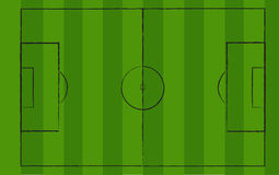 Soccerfield. Vector of a Soccerfield with chalk royalty free illustration