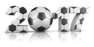 Soccerl and 2017 Royalty Free Stock Images
