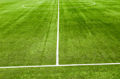 Soccerl grass field Stock Photography