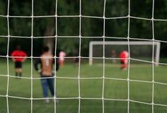 Soccernet lizenzfreies stockfoto