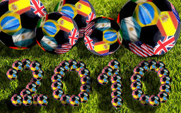 Soccers balls, South Africa 2010. World cup Stock Photo
