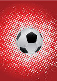 Soccor ball with red background Stock Photo