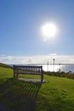 Słońce ławka Zdjęcie Royalty Free
