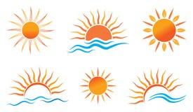 Słońce logo Obrazy Royalty Free