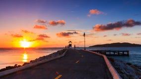 Słońce na końcówki drodze Zdjęcia Royalty Free