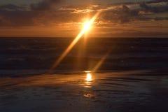 Słońce w morzu Fotografia Royalty Free
