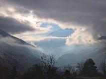 słońce za chmury Zdjęcie Royalty Free