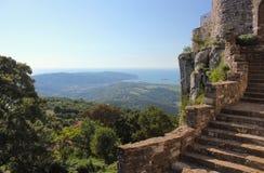 从Socerb城堡,斯洛文尼亚的看法 库存照片