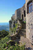 Socerb castle entrance staircase, Slovenia. Socerb castle entrance staircase, Trieste area, Slovenia and Italy coast Royalty Free Stock Photo