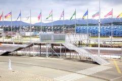 Sochi Ολυμπιακή περιοχή και αυτοκίνητος τύπος 1 κυκλωμάτων Στοκ Φωτογραφίες
