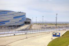 Sochi Ολυμπιακή περιοχή και αυτοκίνητος τύπος 1 κυκλωμάτων Στοκ Εικόνες