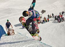 Sochi 2014 - ολυμπιακό πάρκο, Roza Khutor, διαδρομή στοκ εικόνα με δικαίωμα ελεύθερης χρήσης
