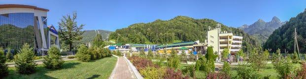 SOCHI, ΡΩΣΙΑ - 2 ΙΟΥΛΊΟΥ 2017: Πάρκο στο χιονοδρομικό κέντρο Gazprom Στοκ Εικόνες