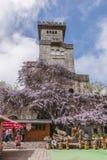 SOCHI, ΡΩΣΙΑ, ΣΤΙΣ 10 ΜΑΐΟΥ 2015: Περιοχή παρατήρησης πύργων Akhun Στοκ Εικόνα
