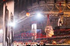 Sochi 2014 τελετή έναρξης Ολυμπιακών Αγωνών Στοκ εικόνες με δικαίωμα ελεύθερης χρήσης