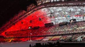Sochi 2014 τελετή έναρξης Ολυμπιακών Αγωνών Στοκ φωτογραφία με δικαίωμα ελεύθερης χρήσης