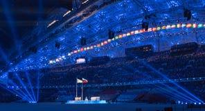 Sochi 2014 τελετή έναρξης Ολυμπιακών Αγωνών Στοκ φωτογραφίες με δικαίωμα ελεύθερης χρήσης