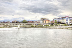 Sochi adler Mzymta Fluss Lizenzfreies Stockfoto