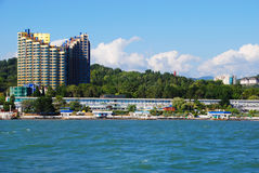Sochi, Ansicht vom Meer Lizenzfreie Stockfotos