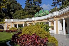 Sochi Arboretum. Entrance to the Sochi Arboretum, South Russia stock photography