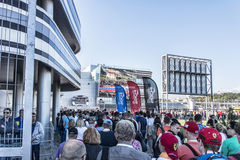 Sochi autodrom. The Fans of formula 1 are in the queue to visit. Sochi, Russia -9 November 2014 : Formula One, Russian Grand Prix,  Sochi autodrom , 16 stage Royalty Free Stock Photography