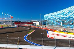 Sochi Autodrom, Russia - November 2014 stock images
