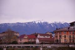 Sochi-Bezirk Adler im Winter stockfotografie