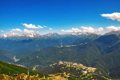Sochi cableway in the mountains Royalty Free Stock Photo
